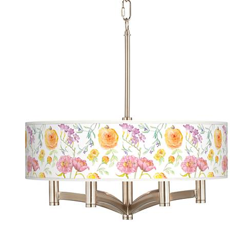 Spring Garden Ava 6-Light Nickel Pendant Chandelier