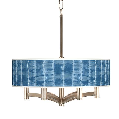 Cool Reflections Ava 6-Light Nickel Pendant Chandelier