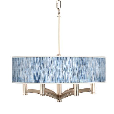 Beachcomb Ava 6-Light Nickel Pendant Chandelier