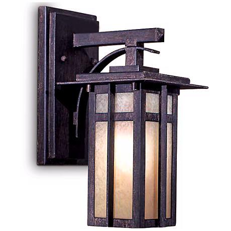 "Delancy 12 1/4"" High Outdoor Wall Lantern in Iron Oxide"