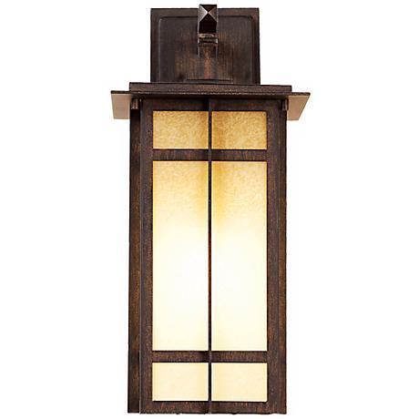 """Delancy 17 1/2"""" High Iron Oxide Outdoor Wall Lantern"""