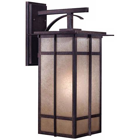 "Delancy 21 1/2"" High Outdoor Lantern in Iron Oxide"