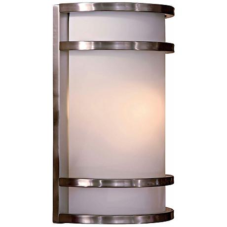 """Bay View Stainless 12"""" Outdoor Wall Light"""
