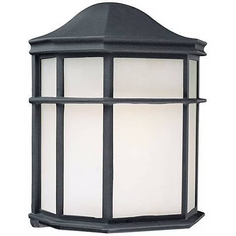 Black and Frosted Acrylic Outdoor Wall Light
