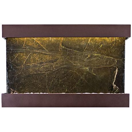 "Quarry Green Marble Copper Vein 51"" Wide Wall Fountain"