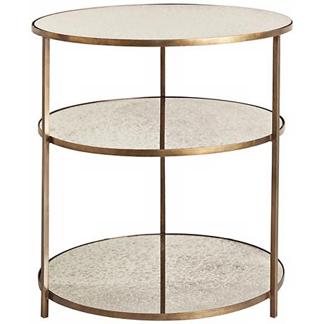 Arteriors Home Percy Mirror and Brass Side Table