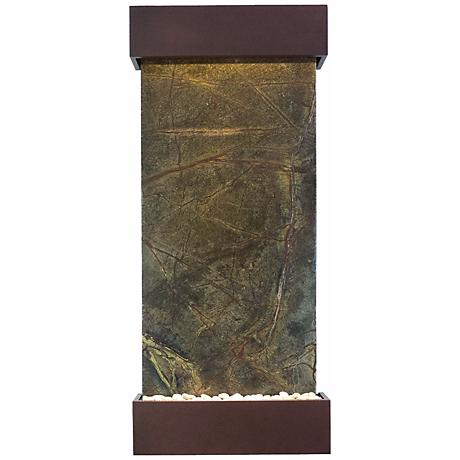 """Classic Quarry 58"""" Green Marble Copper vein Indoor Fountain"""