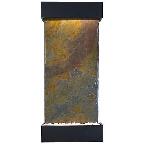 "Classic Quarry 58"" Raja Slate Black Onyx Indoor Fountain"