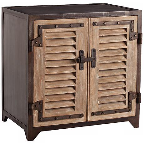 Arteriors Home Lyon Metal and Wood Shutter Cabinet