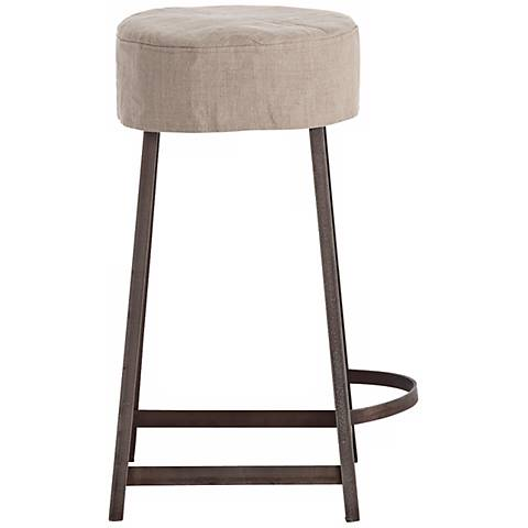 "Arteriors Home Rochefort Linen 24"" Iron Counter Stool"
