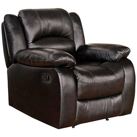 Merced Moraga Brown Leather Recliner
