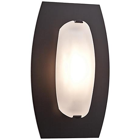 """Nido 10"""" Wide Oil Rubbed Bronze Frosted Glass Ceiling Light"""