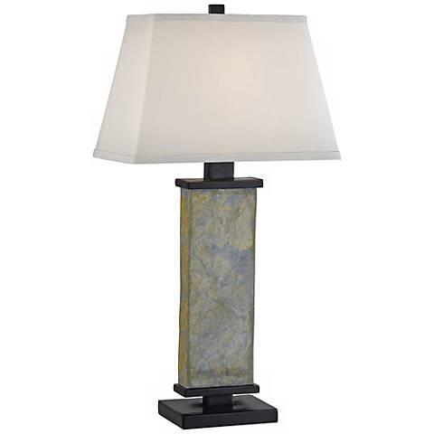 Kenroy Home Hanover Natural Slate Table Lamp