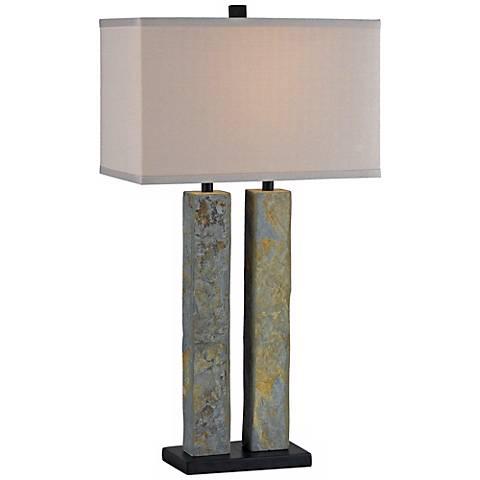 Kenroy Home Barre Green Slate Table Lamp