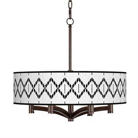 Paved Desert Ava 6-Light Bronze Pendant Chandelier