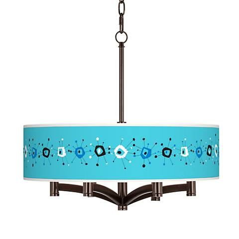 Sputnickle Ava 6-Light Bronze Pendant Chandelier