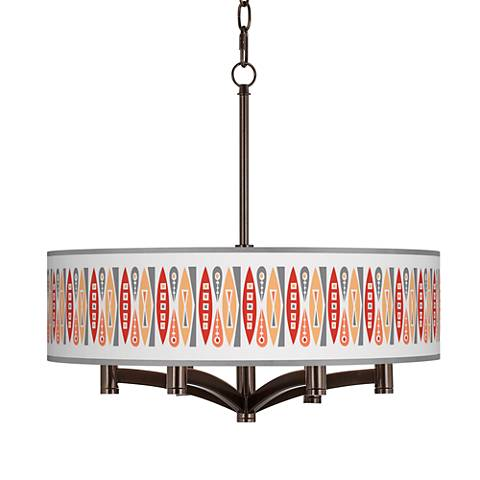 Vernaculis VI Ava 6-Light Bronze Pendant Chandelier