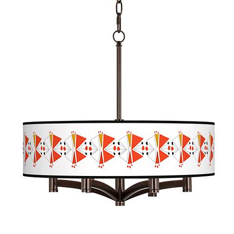 Lexiconic III Ava 6-Light Bronze Pendant Chandelier