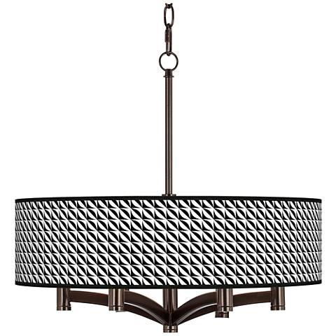 Waves Ava 6-Light Bronze Pendant Chandelier
