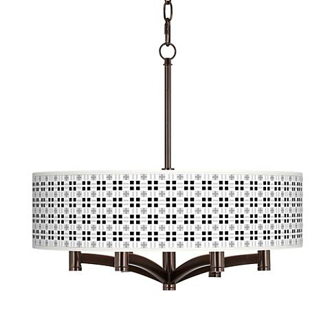 Quadrant Ava 6-Light Bronze Pendant Chandelier