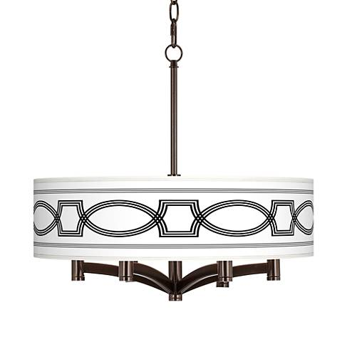 Concave Ava 6-Light Bronze Pendant Chandelier