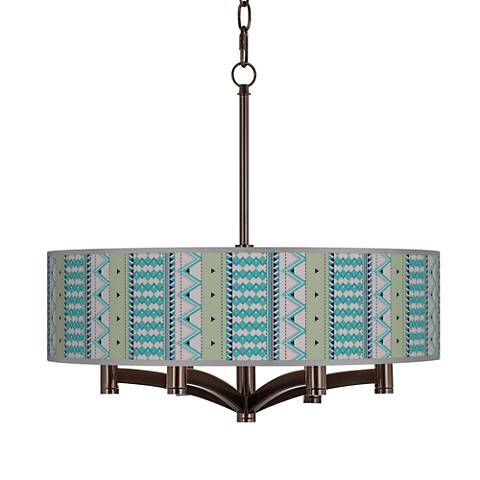 Geo Metrix Ava 6-Light Bronze Pendant Chandelier