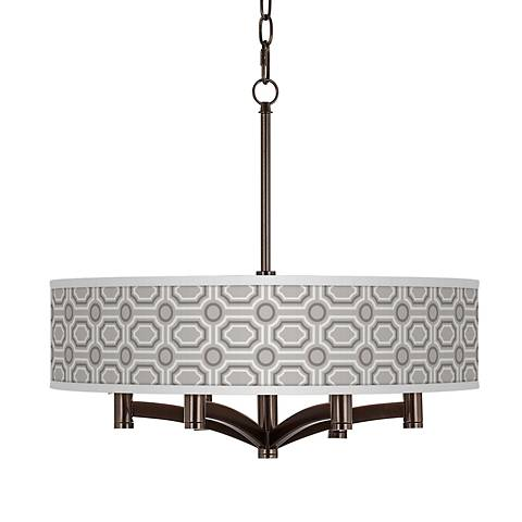 Luxe Tile Ava 6-Light Bronze Pendant Chandelier