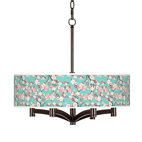 Cherry Blossoms Ava 6-Light Bronze Pendant Chandelier