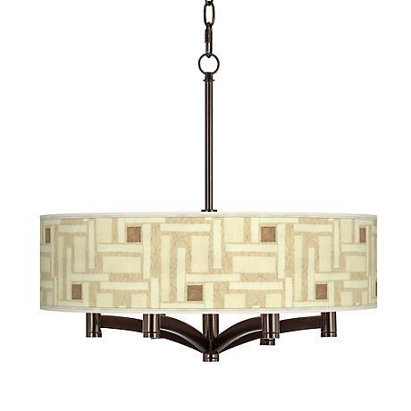 Organic Strands Ava 6-Light Bronze Pendant Chandelier