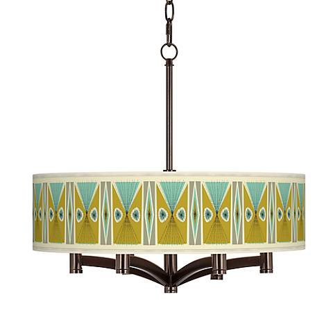 Vernaculis III Ava 6-Light Bronze Pendant Chandelier