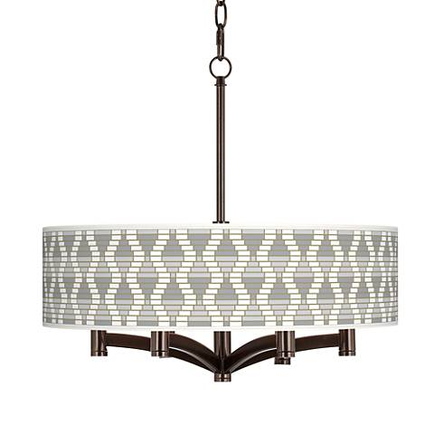 Stepping Out Ava 6-Light Bronze Pendant Chandelier