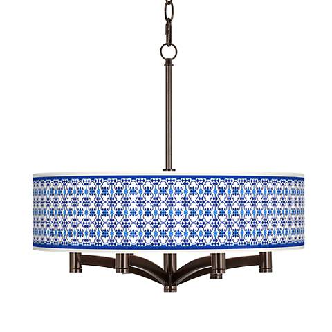 Indigo Path Ava 6-Light Bronze Pendant Chandelier