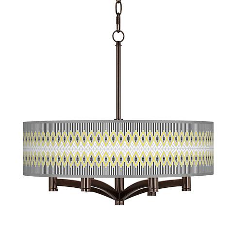Desert Geometric Ava 6-Light Bronze Pendant Chandelier