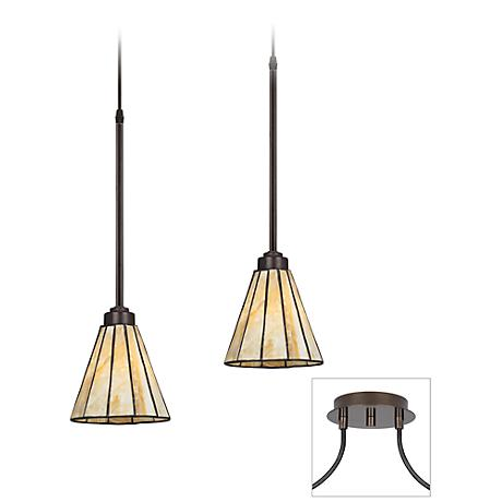 Tiger Bronze - Honey Glass Double Multi Light Pendant