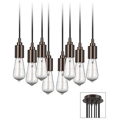 europa 1910 edison bulb bronze multi light pendant x9874 3f797. Black Bedroom Furniture Sets. Home Design Ideas
