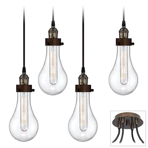 Coleman Bronze 4-Light Swag Pendant