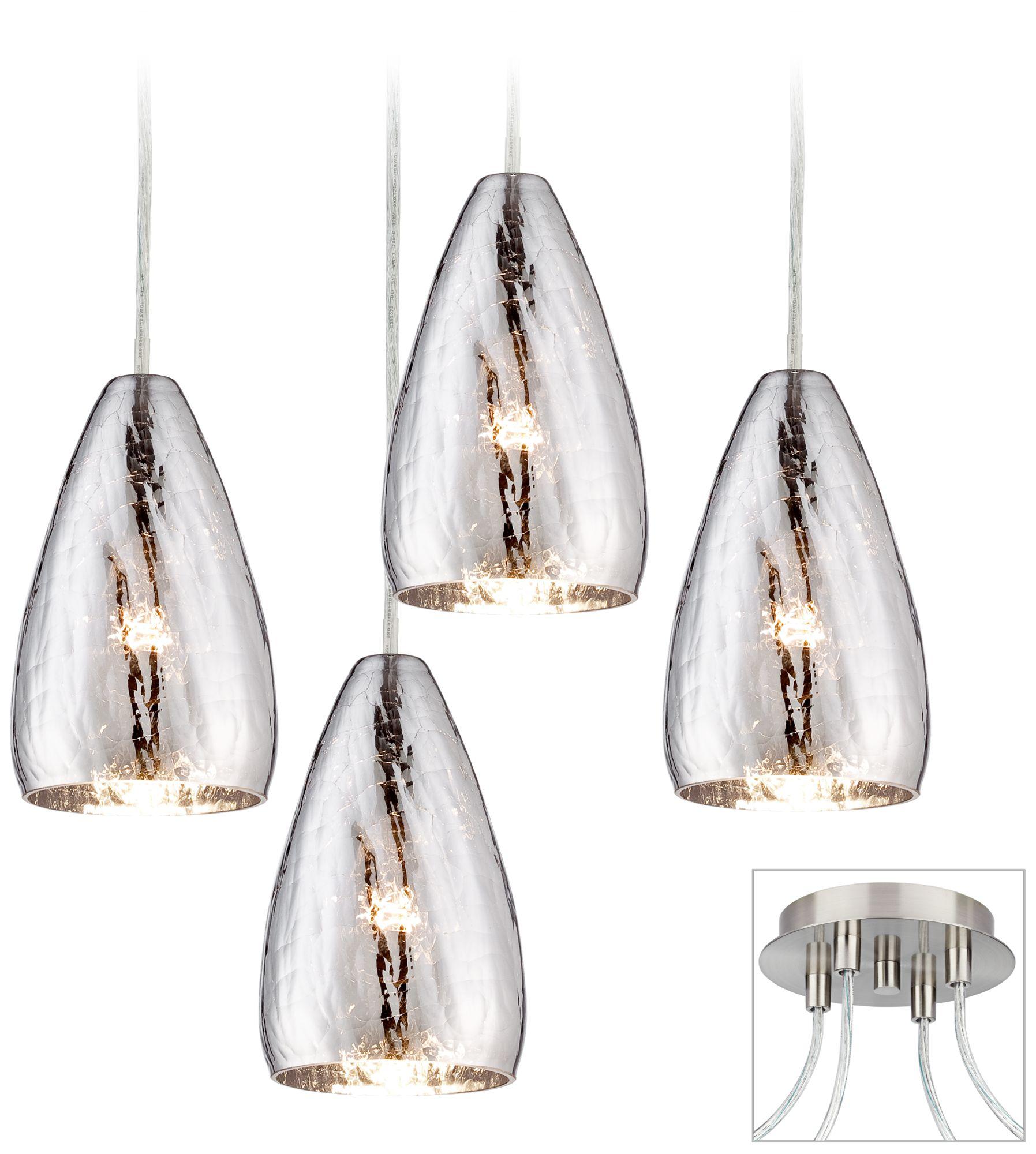 possini euro design portico brushed nickel 4 swag chandelier - Possini Euro Design