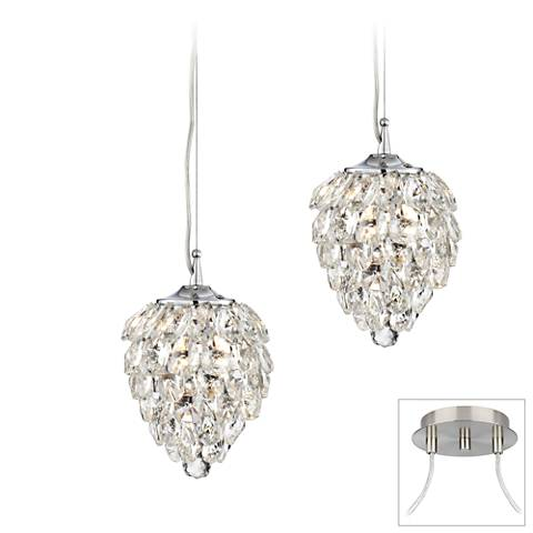 Gregoria Brushed Nickel 2-Light Swag Pendant