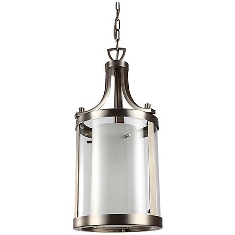 "Essex 10"" Wide Nickel Mini Pendant Light"