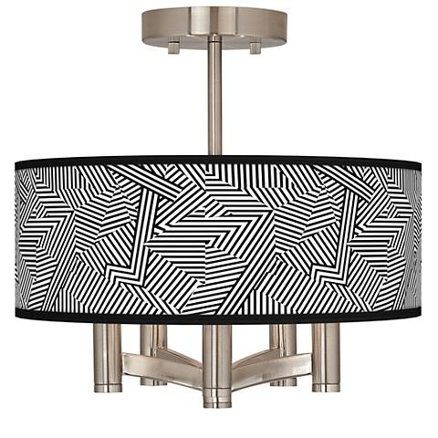 Labyrinth Ava 5-Light Nickel Ceiling Light