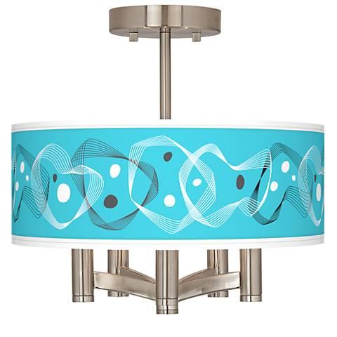 Spirocraft Ava 5-Light Nickel Ceiling Light