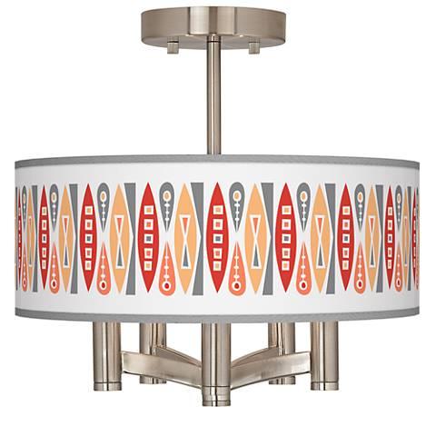 Vernaculis VI Ava 5-Light Nickel Ceiling Light