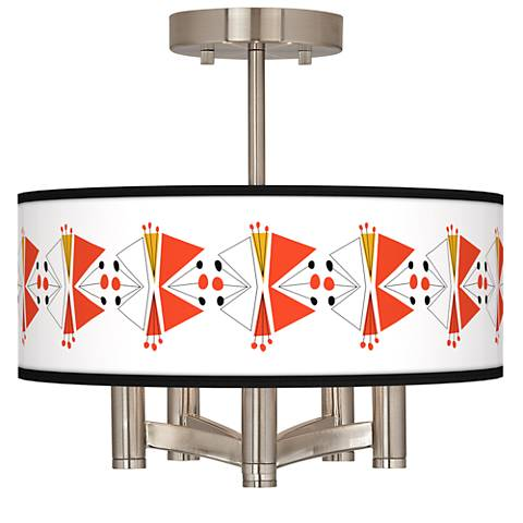 Lexiconic III Ava 5-Light Nickel Ceiling Light