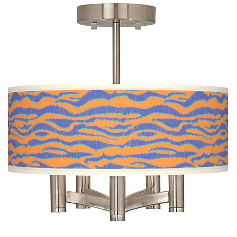 Sunset Stripes Ava 5-Light Nickel Ceiling Light