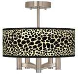 Leopard Ava 5-Light Nickel Ceiling Light
