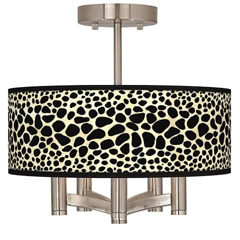Leopard Ava 5-Light Nickel Ceiling Light
