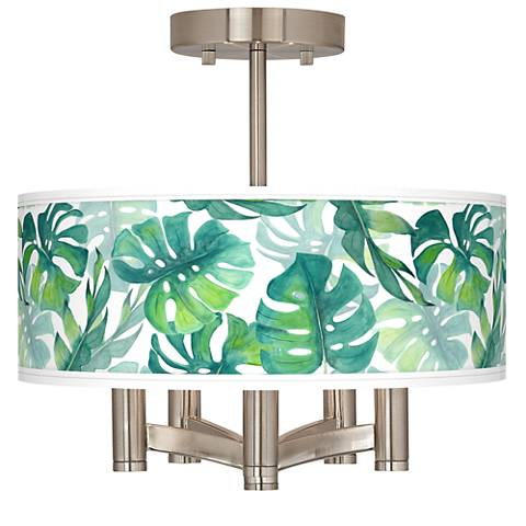 Tropica Ava 5-Light Nickel Ceiling Light