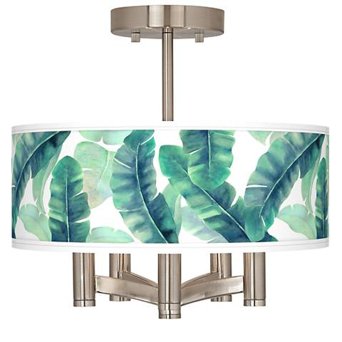 Guinea Ava 5-Light Nickel Ceiling Light