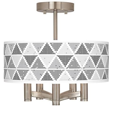 Pointillism Ava 5-Light Nickel Ceiling Light