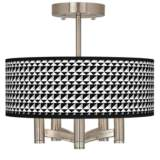 Triangle Illusion Ava 5-Light Nickel Ceiling Light